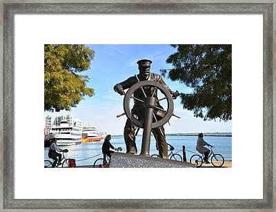 Navy Pier Captain Framed Print by Andrew Dinh