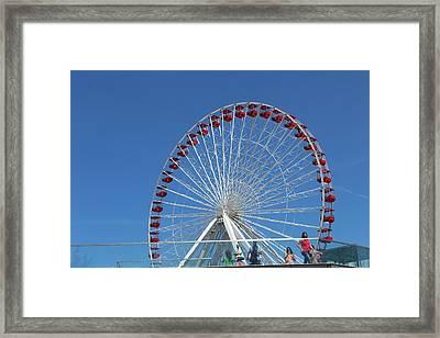 Navy Pier Ferris Wheel Framed Print
