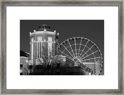 Navy Pier Gatehouse Chicago B W Framed Print by Steve Gadomski
