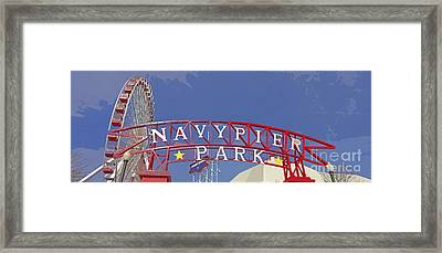 Navy Pier Framed Print by Mary Machare