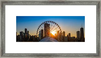 Navy Pier Sundown Chicago Framed Print