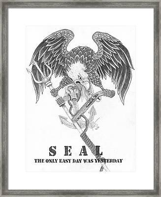 Navy Seal Tribute Framed Print
