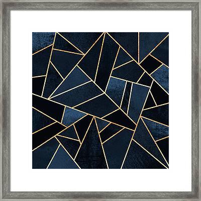 Navy Stone Framed Print