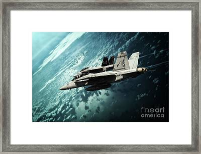 Navy Super Bugs Framed Print by J Biggadike