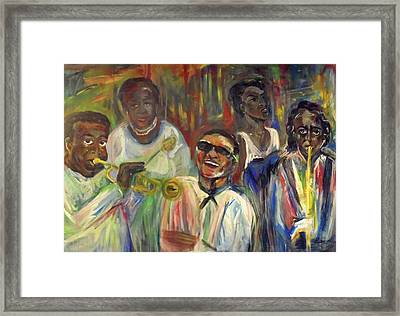 Nawlins Jazz Framed Print by Made by Marley