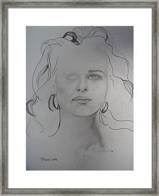 Nazareth Model Framed Print by Marwan  Khayat