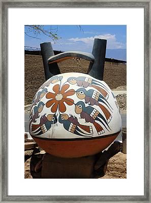 Framed Print featuring the photograph Nazca Ceramics Peru by Aidan Moran