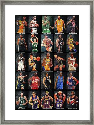 Nba Legends Framed Print