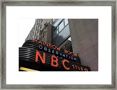 Nbc Studio Rainbow Room Sign Framed Print