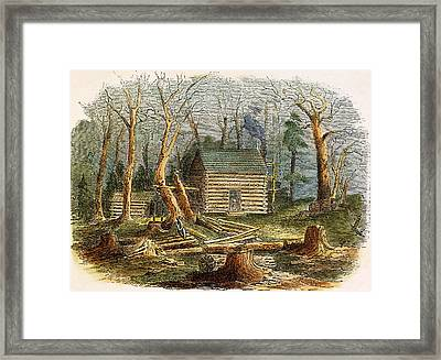 N.c.: Log Cabin, 1857 Framed Print