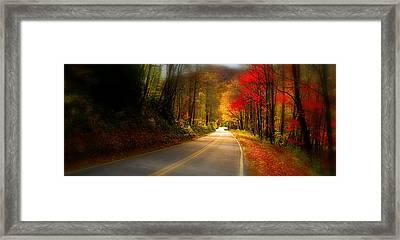 Nc Mountain Fall Drive Framed Print
