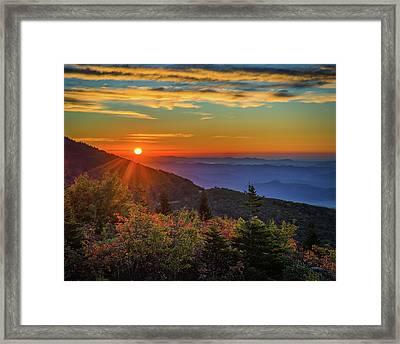 Nc Mountain Sunrise Blue Ridge Mountains Framed Print