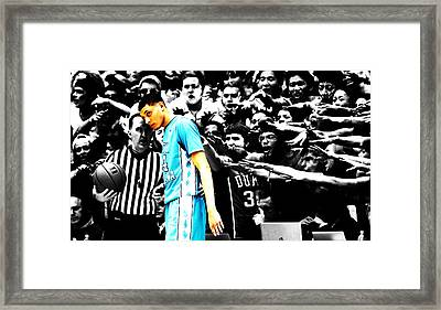 Nc Tarheel Under Pressure 1b Framed Print by Brian Reaves