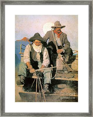 N.c. Wyeth: The Pay Stage Framed Print by Granger