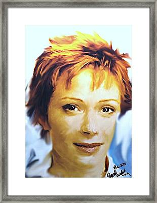 Ncis Director Shepeard 2 Framed Print by Crystal Webb