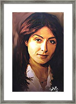 Ncis Kate Todd Framed Print by Crystal Webb