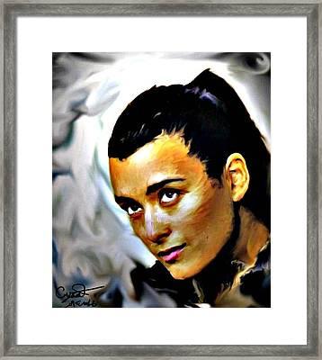 Ncis Ziva Framed Print by Crystal Webb
