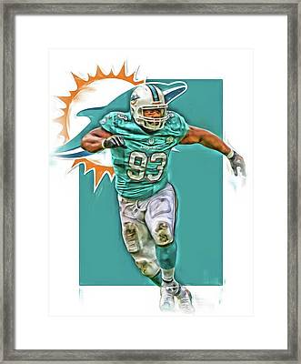 Ndamukong Suh Miami Dolphins Oil Art Framed Print