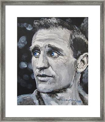 Neal Cassady - On The Road Framed Print by Eric Dee