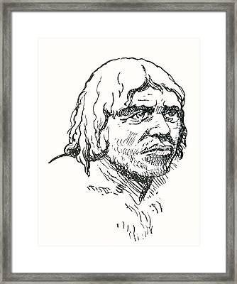 Neanderthal Or Neandertal Man. After Framed Print