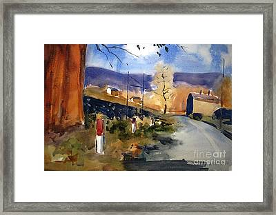 Near Brownsville Matted Glassed Framed Framed Print by Charlie Spear
