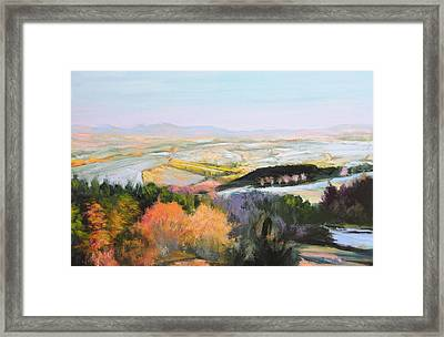 Framed Print featuring the painting Near Clawddnewydd In North Wales. by Harry Robertson