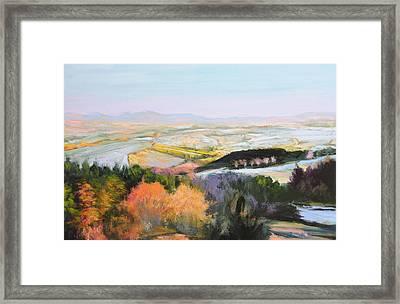 Near Clawddnewydd In North Wales. Framed Print by Harry Robertson
