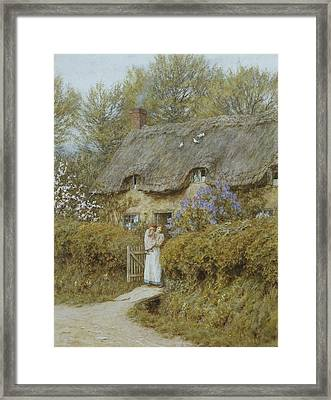 Near Freshwater Isle Of Wight Framed Print