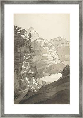 Near Glaris, Switzerland Framed Print by Francis Towne
