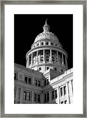 Near Infrared Image Of The Texas State Capitol Framed Print by David Thompson