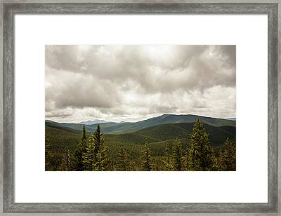 Near Monarch Pass At The Continental Divide Framed Print