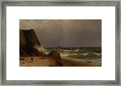 Near Newport Rhode Island Framed Print by John Frederick Kensett