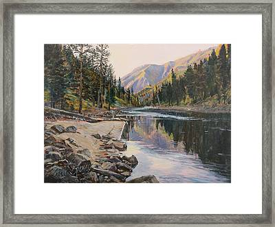 Framed Print featuring the painting Near Smith Gulch by Steve Spencer
