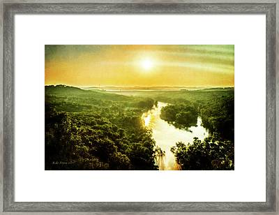 Near Table Rock Lake Framed Print