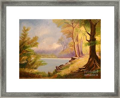 Near The Lake Framed Print by Cilinha