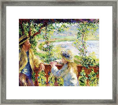 Near The Lake Framed Print by Pg Reproductions