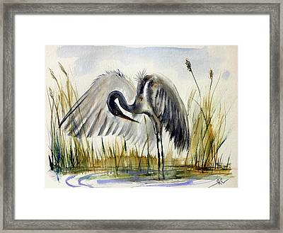 Near The Pond 3 Framed Print