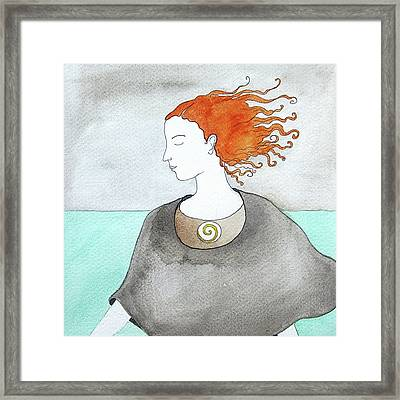 Near The Sea Framed Print by Clary Sage Moon