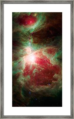 Near The Sword Of The Constellation Orion Framed Print