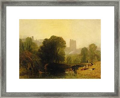Near The Thames Lock Windsor Framed Print by Joseph Mallord William Turner