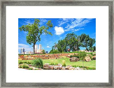 Near The Tulsa Skyline Framed Print