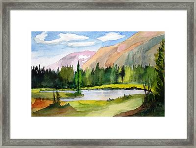 Near Two Medicine Montana Framed Print