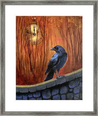 Framed Print featuring the painting Nearing Midnight by Terry Webb Harshman