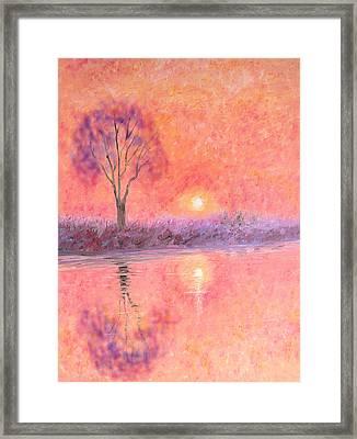 Framed Print featuring the digital art Nearly Twilight by Elizabeth Lock
