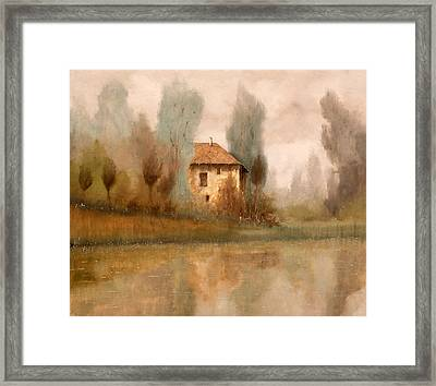 Nebbiolina Autunnale Framed Print by Guido Borelli