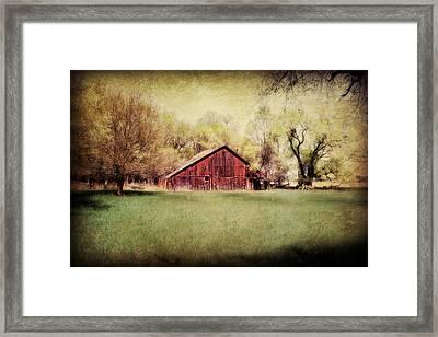 Nebraska Barn Framed Print by Julie Hamilton