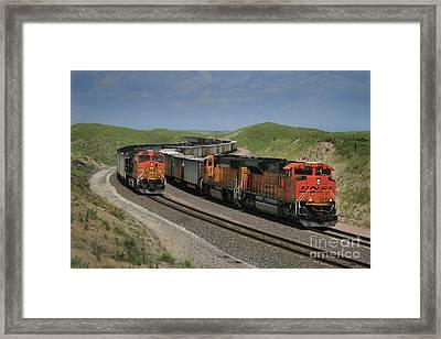 Nebraska Coal Trains Framed Print by Garry McMichael