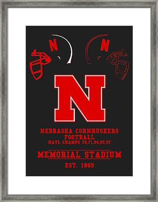 Nebraska Cornhuskers 2 Framed Print by Joe Hamilton