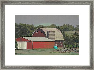 Nebraska Farm Life - The Family Farm Framed Print