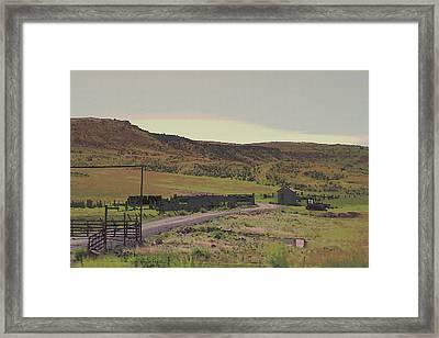 Nebraska Farm Life - The Paddock Framed Print